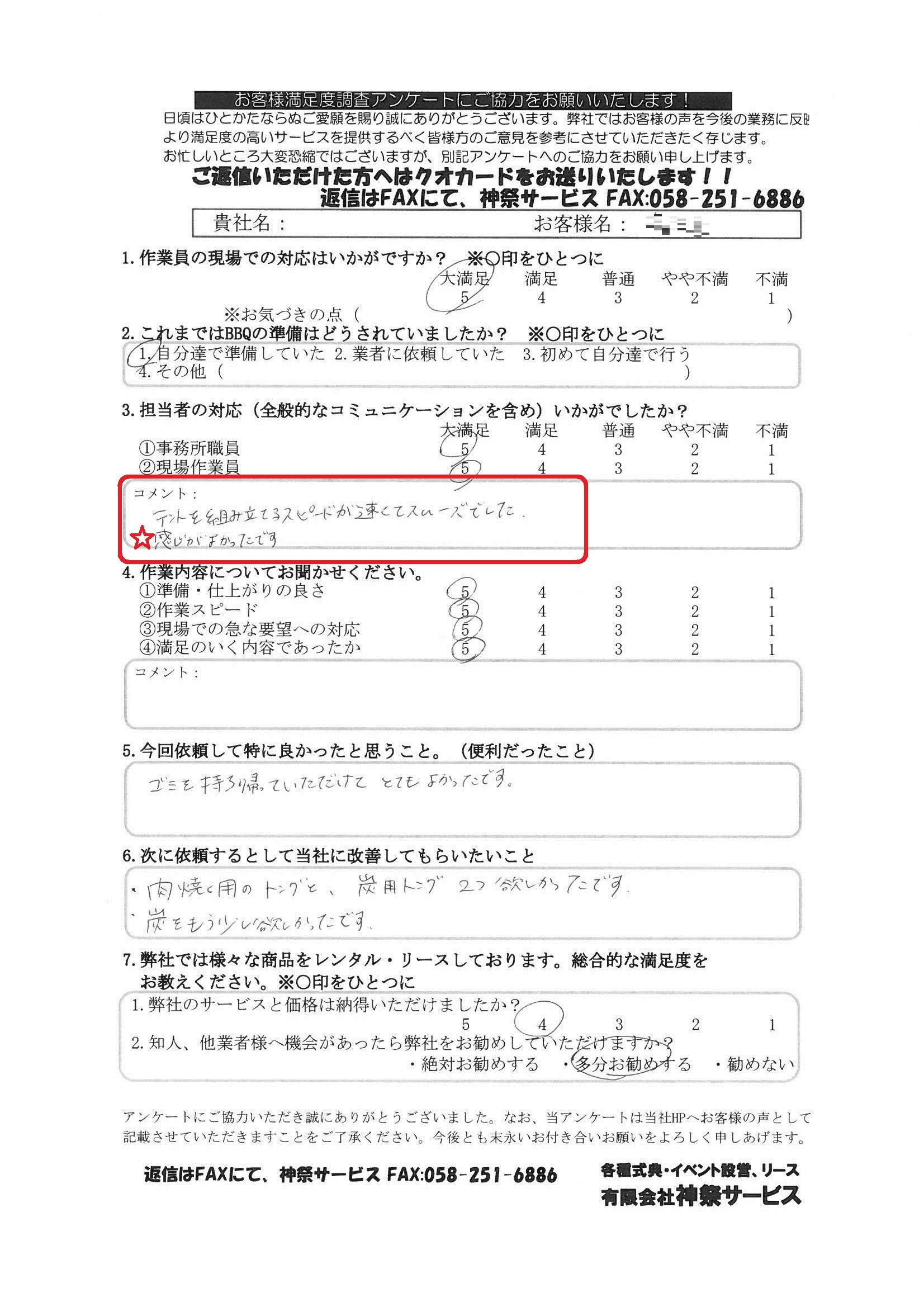 2015.6.26 庄内緑地 BBQ 秋本様